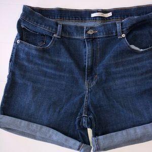 Levis Womens Stretchy Jean Denim Classic Shorts